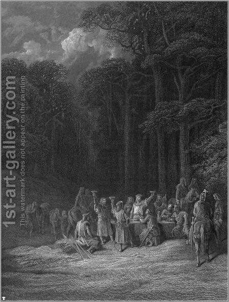 Idylls of the King 16 by Gustave Dore - Reproduction Oil Painting