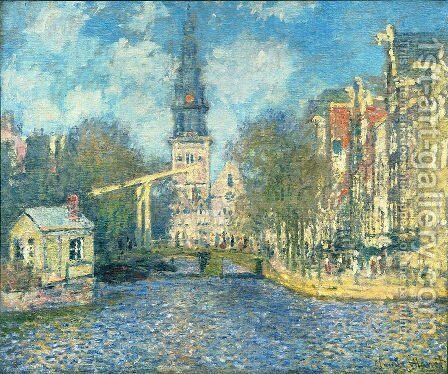 Zuiderkerk in Amsterdam by Claude Oscar Monet - Reproduction Oil Painting