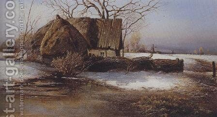 Spring is coming by Alexei Kondratyevich Savrasov - Reproduction Oil Painting
