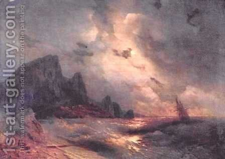 Sea 11 by Ivan Konstantinovich Aivazovsky - Reproduction Oil Painting