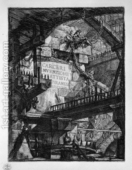 Title Plate by Giovanni Battista Piranesi - Reproduction Oil Painting