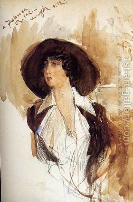 Portrait of Donna Franca Florio 2 by Giovanni Boldini - Reproduction Oil Painting