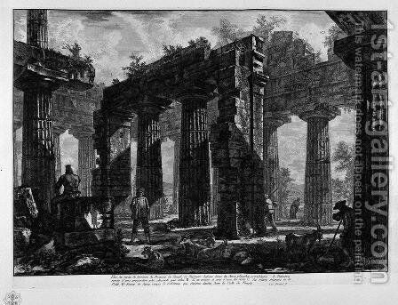 Ruins of the Temple of Neptune by Giovanni Battista Piranesi - Reproduction Oil Painting
