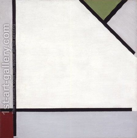 Simultaneous Counter Composition 3 by Theo van Doesburg - Reproduction Oil Painting