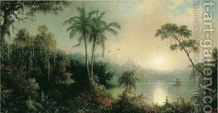 Sunrise in Nicaragua by Martin Johnson Heade - Reproduction Oil Painting