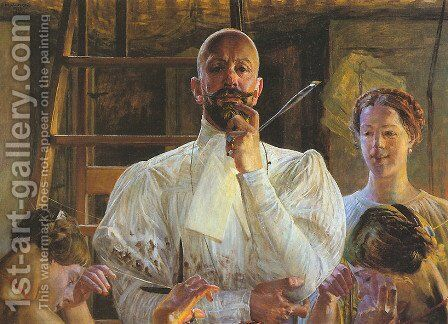 Farewell to Atelier by Jacek Malczewski - Reproduction Oil Painting