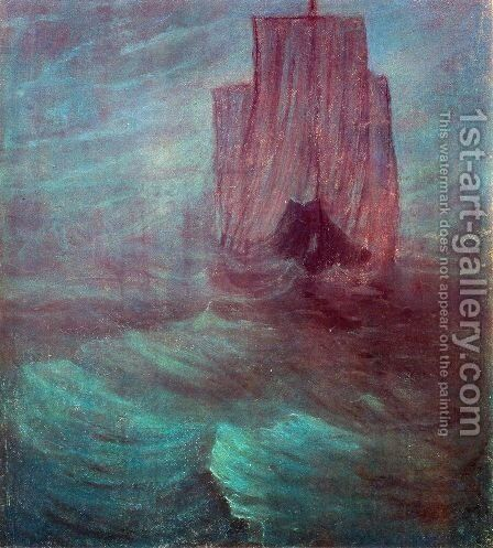 Ship by Mikolajus Ciurlionis - Reproduction Oil Painting