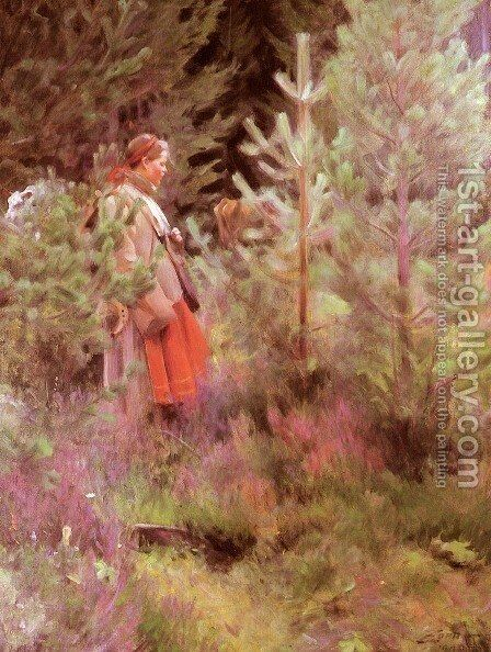 Walk by Anders Zorn - Reproduction Oil Painting