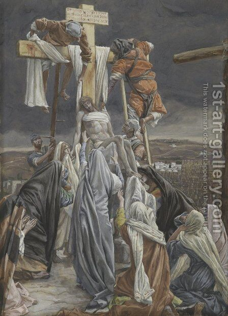 The Descent from the Cross, illustration for 'The Life of Christ' by James Jacques Joseph Tissot - Reproduction Oil Painting