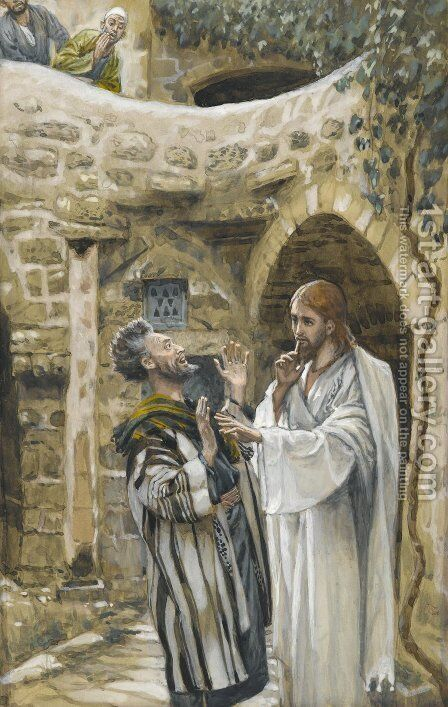 Jesus Heals a Mute Possessed Man by James Jacques Joseph Tissot - Reproduction Oil Painting