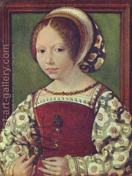 A Young Princess (Dorothea of Denmark0) by Jan (Mabuse) Gossaert - Reproduction Oil Painting