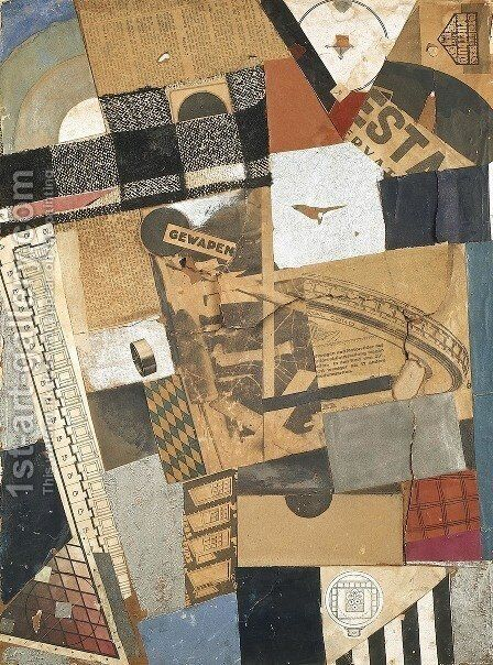 The denaturalized material. Destruction 2. by Theo van Doesburg - Reproduction Oil Painting