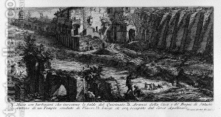 The Roman antiquities, t. 1, Plate XVI by Giovanni Battista Piranesi - Reproduction Oil Painting