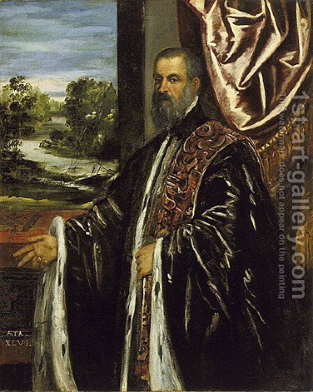 Portrait of a Venetian Senator 3 by Jacopo Tintoretto (Robusti) - Reproduction Oil Painting