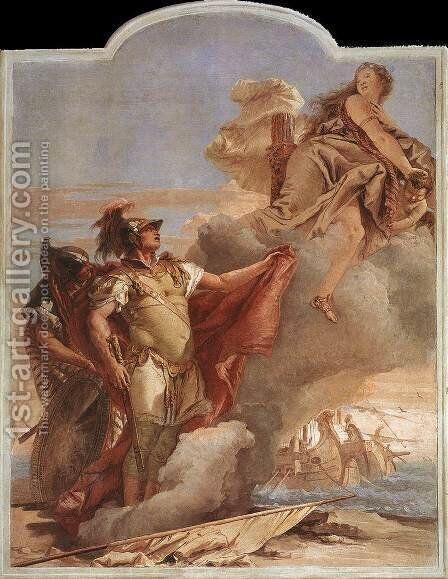 Venus's Farewell to Aeneas, from the Room of the Aeneid in the Palazzina by Giovanni Battista Tiepolo - Reproduction Oil Painting