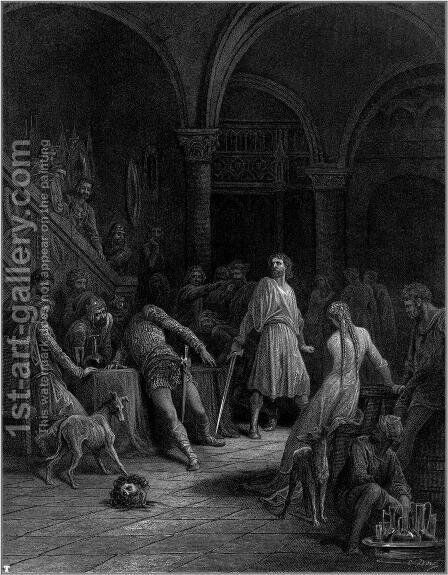 Idylls of the King 17 by Gustave Dore - Reproduction Oil Painting