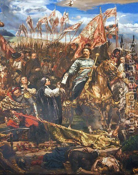 Sobieski at Vienna by Jan Matejko - Reproduction Oil Painting