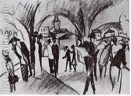 Arcade in Thun by August Macke - Reproduction Oil Painting