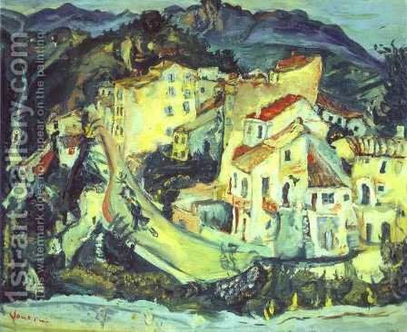 Landscape of Cagnes by Chaim Soutine - Reproduction Oil Painting