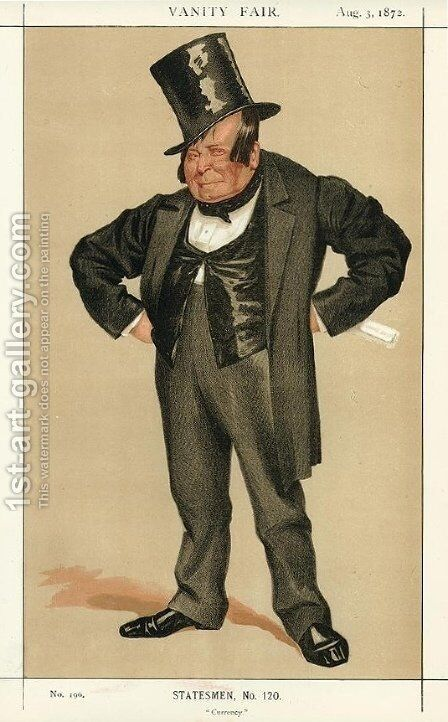 Caricature of James Delahunty M.P. by James Jacques Joseph Tissot - Reproduction Oil Painting