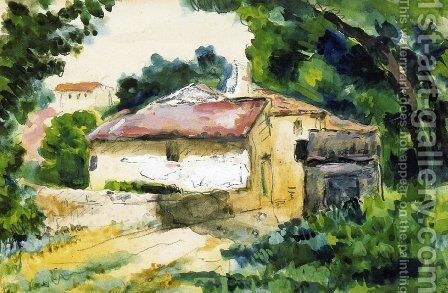 House in Provence 2 by Paul Cezanne - Reproduction Oil Painting