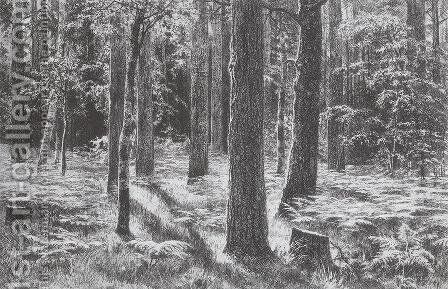 Ferns by Ivan Shishkin - Reproduction Oil Painting