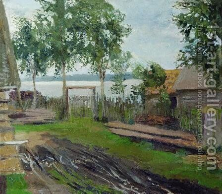 A yard by Isaak Ilyich Levitan - Reproduction Oil Painting