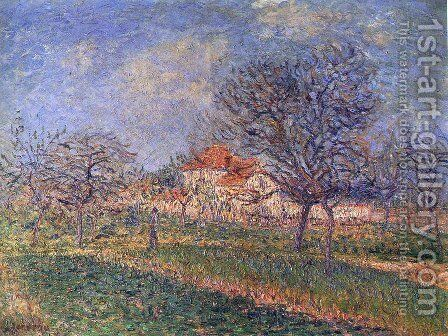 Trees in Bloom by Gustave Loiseau - Reproduction Oil Painting