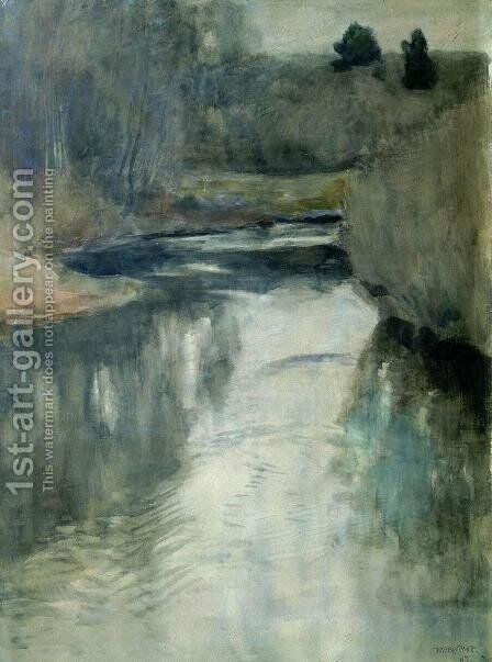 A river 4 by Isaak Ilyich Levitan - Reproduction Oil Painting