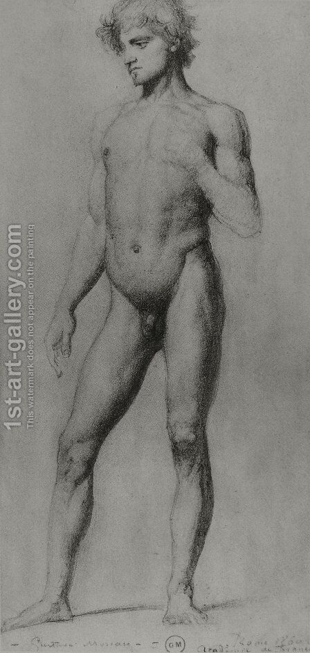 Male nude by Gustave Moreau - Reproduction Oil Painting
