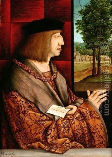 Emperor Maximilian I (1459-1519) 2 by Bernhard Strigel - Reproduction Oil Painting