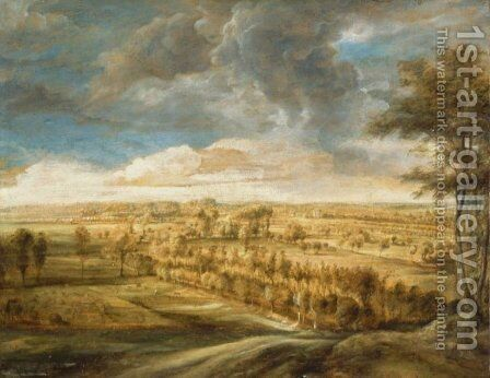 Landscape with an Avenue of Trees by Rubens - Reproduction Oil Painting