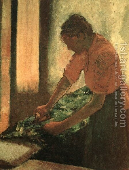 Woman Ironing 2 by Edgar Degas - Reproduction Oil Painting