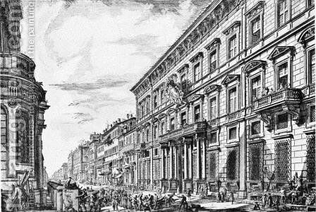 The Corso in Rome by Giovanni Battista Piranesi - Reproduction Oil Painting