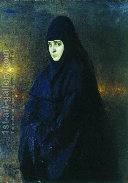 Nun 2 by Ilya Efimovich Efimovich Repin - Reproduction Oil Painting