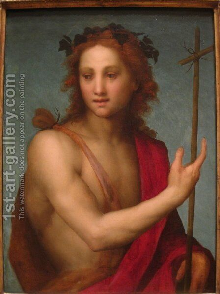St. John the Baptist by Andrea Del Sarto - Reproduction Oil Painting
