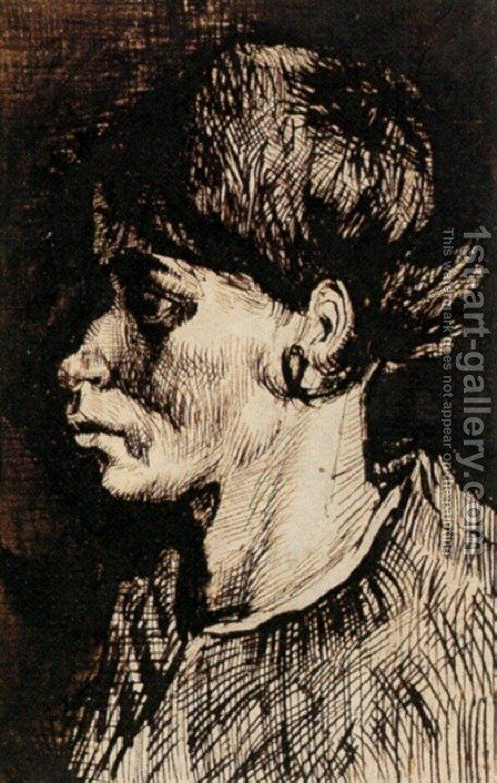 Head of a Woman 24 by Vincent Van Gogh - Reproduction Oil Painting