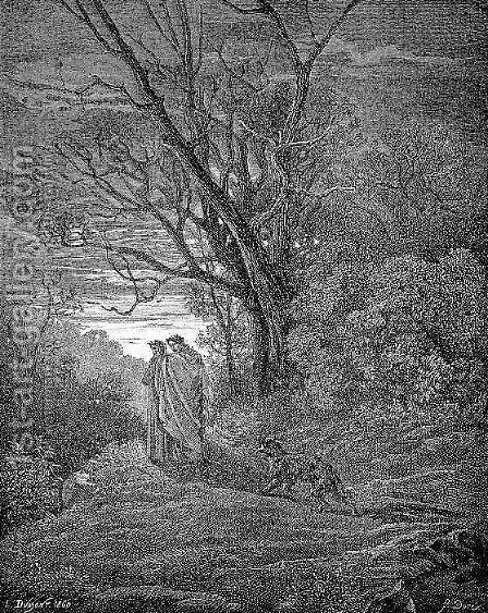 The She-Wolf by Gustave Dore - Reproduction Oil Painting