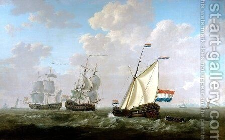 The yacht of the VOC Chamber of Rotterdam 1790 by Jacob van Strij - Reproduction Oil Painting