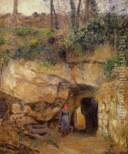 The Carrier at Hermitage, Pontoise by Camille Pissarro - Reproduction Oil Painting