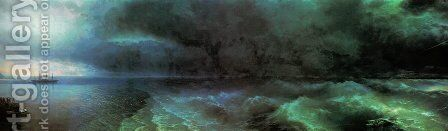 From the calm to hurricane by Ivan Konstantinovich Aivazovsky - Reproduction Oil Painting