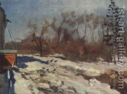 Early spring. Botanical garden. by Isaak Ilyich Levitan - Reproduction Oil Painting