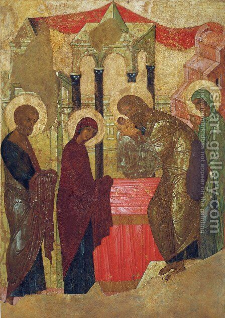 Presentation of Jesus at the Temple by Andrei Rublev - Reproduction Oil Painting