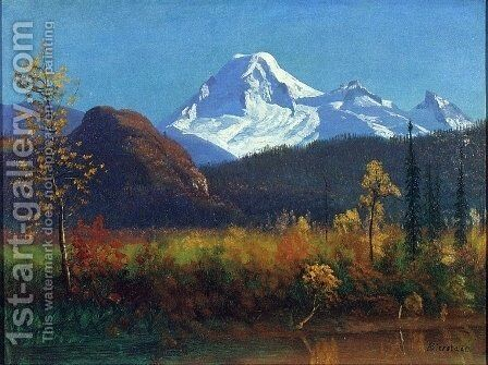 Mt. Rainier from the Southwest by Albert Bierstadt - Reproduction Oil Painting