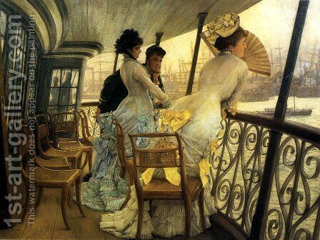 Remembrance Ball on Board by James Jacques Joseph Tissot - Reproduction Oil Painting