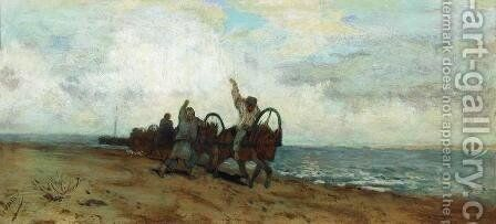 Boatmen by Isaak Ilyich Levitan - Reproduction Oil Painting