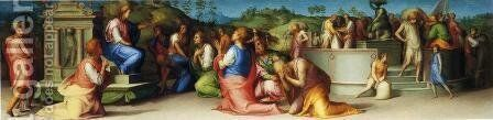 Joseph Revealing Himself to His Brothers by (Jacopo Carucci) Pontormo - Reproduction Oil Painting