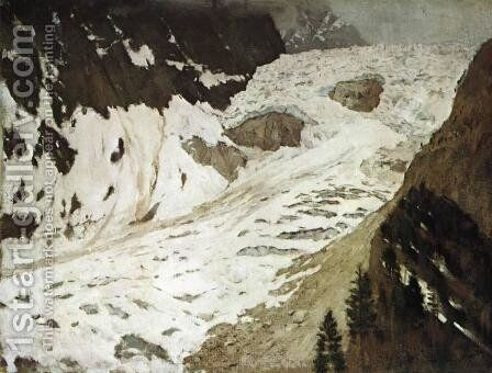 Alps. Snow. by Isaak Ilyich Levitan - Reproduction Oil Painting