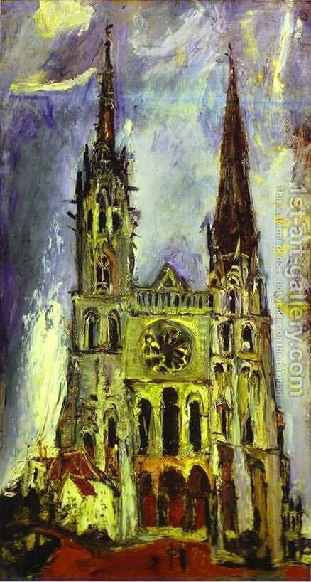 Chartres Cathedral by Chaim Soutine - Reproduction Oil Painting