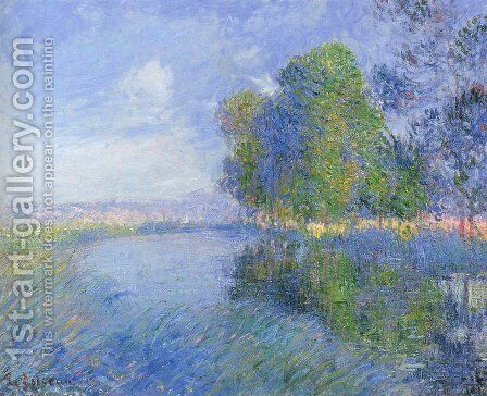 Trees in Bloom 2 by Gustave Loiseau - Reproduction Oil Painting